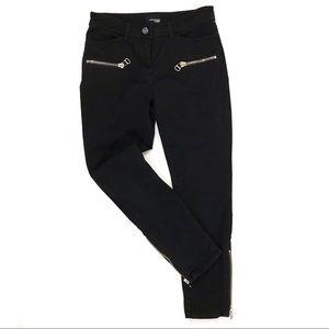 Wilfred Aritzia Black Ankle Zip Moto Crop Pants
